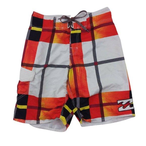 Billabong Board Shorts Tie Multi Color Polyester
